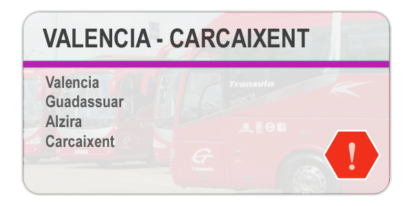 Incidencia - Valencia - Carcaixent